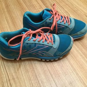 Pink and Blue Reebox Sneakers